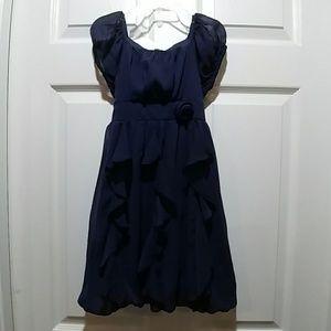 Hype Sheer Blue Dress